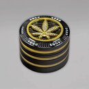 Bling Bling Grinder, 4-teilig, 50 mm, Leaf