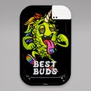 Best Buds Rolling Tray LSD, Metall, 27,5 x 17,5 cm